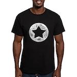 Distressed Vintage Star 2 Men's Fitted T-Shirt (da