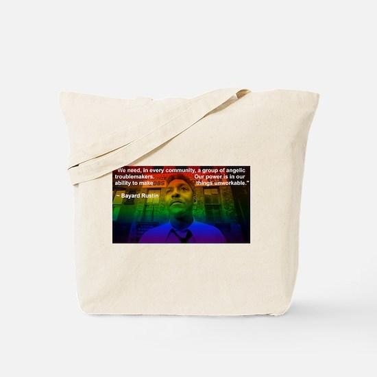 Angelic Troublemakers Bayard Rustin Tote Bag