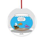 Fishbowl Stolen Treasure Ornament (Round)