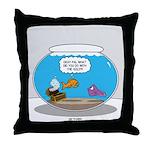 Fishbowl Stolen Treasure Throw Pillow