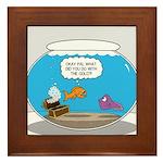 Fishbowl Stolen Treasure Framed Tile
