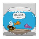 Fishbowl Stolen Treasure Tile Coaster