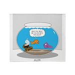 Fishbowl Stolen Treasure Throw Blanket
