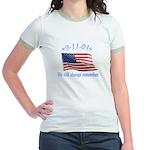9/11 Tribute - Always Remember Jr. Ringer T-Shirt