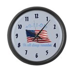 9/11 Tribute - Always Remember Large Wall Clock
