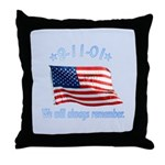 9/11 Tribute - Always Remember Throw Pillow