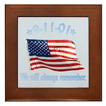 9/11 Tribute - Always Remember Framed Tile