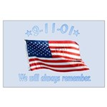 9/11 Tribute - Always Remember Large Poster