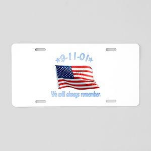 9/11 Tribute - Always Remember Aluminum License Pl
