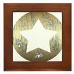 Distressed Vintage Star 3 Framed Tile