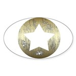 Distressed Vintage Star 3 Sticker (Oval 10 pk)