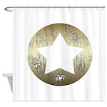 Distressed Vintage Star 3 Shower Curtain