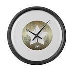 Distressed Vintage Star 3 Large Wall Clock