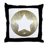Distressed Vintage Star 3 Throw Pillow