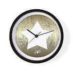 Distressed Vintage Star 3 Wall Clock