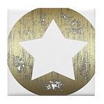 Distressed Vintage Star 3 Tile Coaster