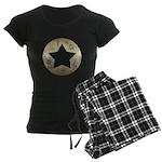 Distressed Vintage Star 3 Women's Dark Pajamas