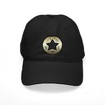 Distressed Vintage Star 3 Black Cap