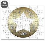 Distressed Vintage Star 3 Puzzle
