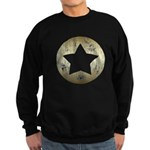 Distressed Vintage Star 3 Sweatshirt (dark)