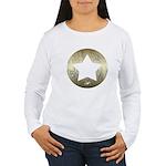 Distressed Vintage Star 3 Women's Long Sleeve T-Sh