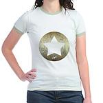 Distressed Vintage Star 3 Jr. Ringer T-Shirt