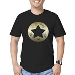 Distressed Vintage Star 3 Men's Fitted T-Shirt (da