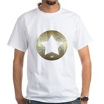 Distressed Vintage Star 3 White T-Shirt