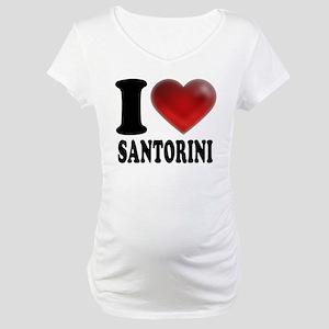 I Heart Santorini Maternity T-Shirt