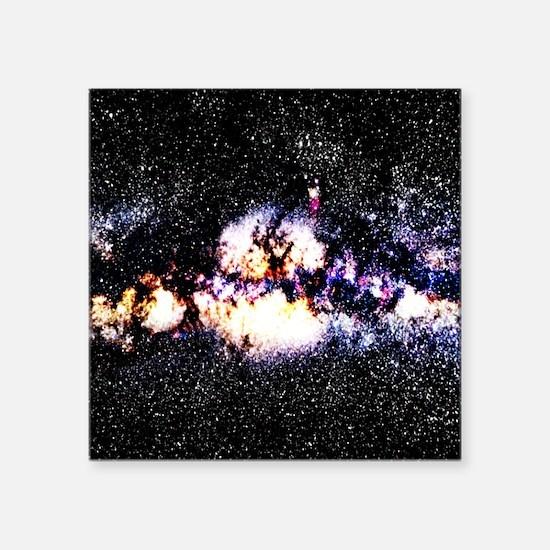 "Fiery Galaxy Square Sticker 3"" x 3"""