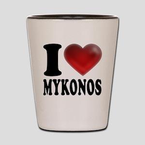 I Heat Mykonos Shot Glass