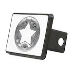 Distressed Vintage Silver Star Rectangular Hitch C