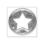 Distressed Vintage Silver Star Square Sticker 3