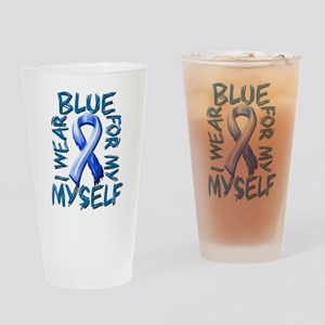 I Wear Blue for Myself Drinking Glass
