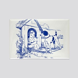CHILD IN DOGHOUSE Rectangle Magnet