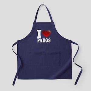 I Heart Paros Apron (dark)