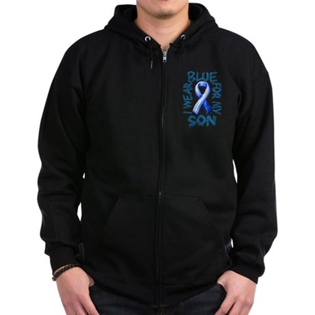 I Wear Blue for my Son.png Zip Hoodie (dark)