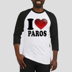 I Heart Paros Baseball Jersey