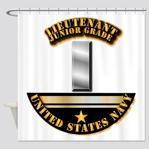 Navy - Officer - LT JG Shower Curtain