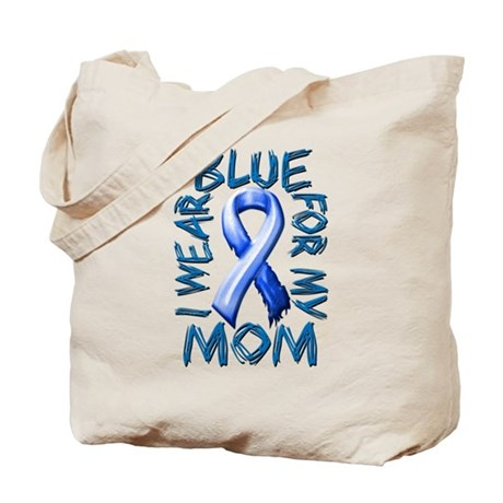 I Wear Blue for my Mom.png Tote Bag