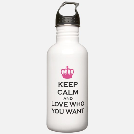 Keep Calm and Love Who You Want Crown Carry on Sta