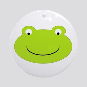 Frog Face Ornament (Round)