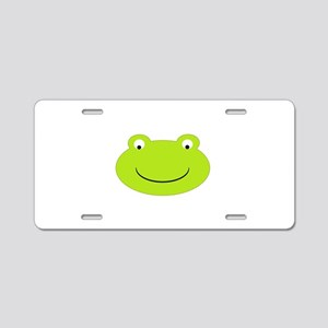 Frog Face Aluminum License Plate