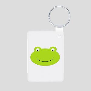 Frog Face Aluminum Photo Keychain