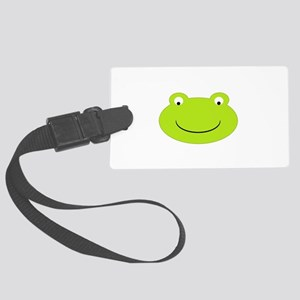 Frog Face Large Luggage Tag