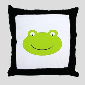 Frog Face Throw Pillow