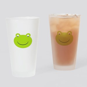Frog Face Drinking Glass