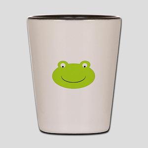 Frog Face Shot Glass