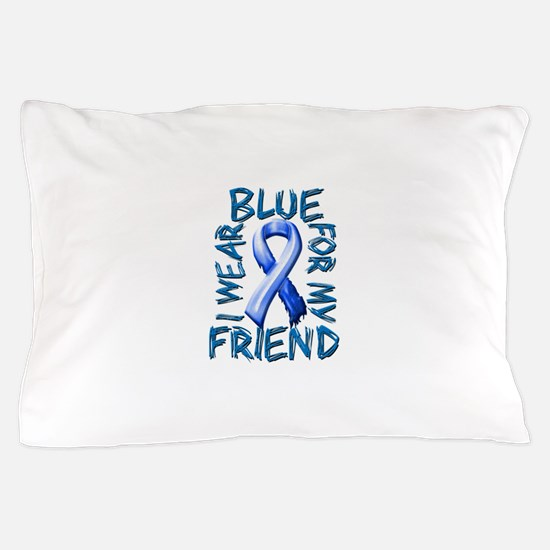 I Wear Blue for my Friend.png Pillow Case