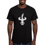 Nightsons Logo (WHITE) Men's Fitted T-Shirt (dark)